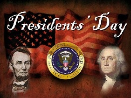 presidents day antique color Washington & Lincoln