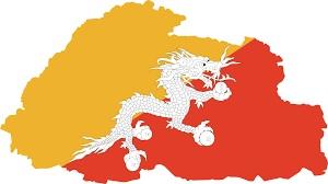 bhutan-flag-map